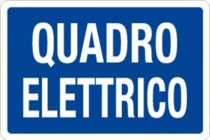 cartello quadro elettrico