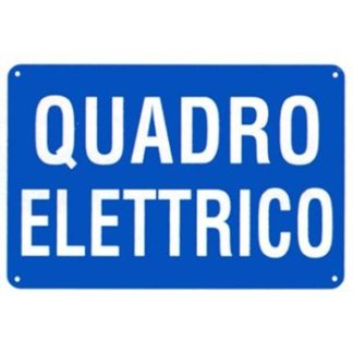 cartello quadro elettrico orizzontale