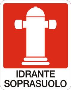 cartello idrante sopra suolo