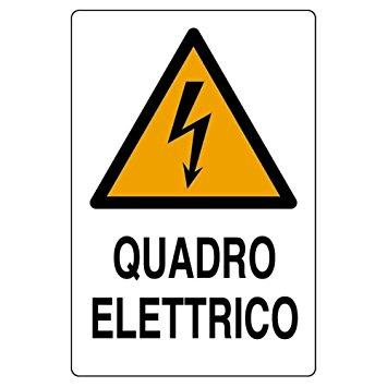 cartello quadro elettrico verticale