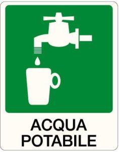 cartello acqua potabile