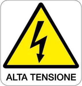 cartello alta tensione