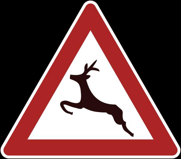 cartello animali selvatici