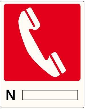 cartello numero di telefono antincendio