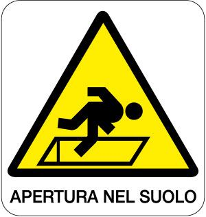 cartello apertura nel suolo