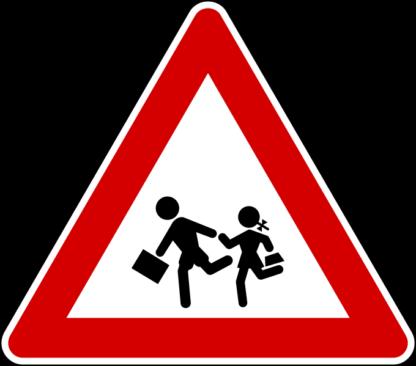 cartello attenzione bambini