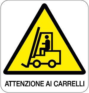 cartello attenzione ai carrelli