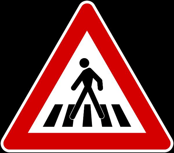 cartello attraversamento pedonale