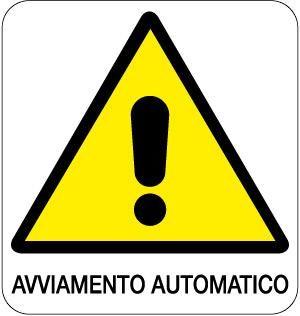 cartello avviamento automatico