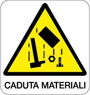 cartello caduta materiali