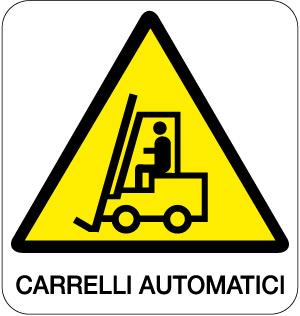 cartello carrelli automatici