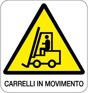 cartello carrelli in movimento