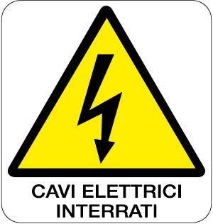 cartello cavi elettrici interrati