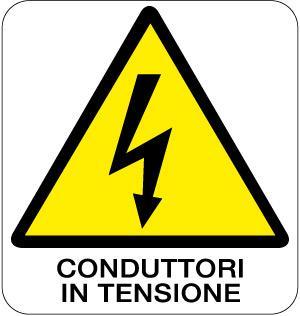 cartello conduttori in tensione