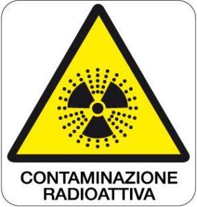 cartello contaminazione radioattiva