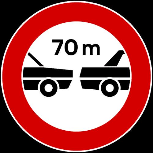 cartello distanziamento minimo obbligatorio 70 metri