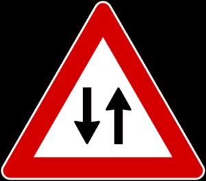 cartello doppio senso circolazione