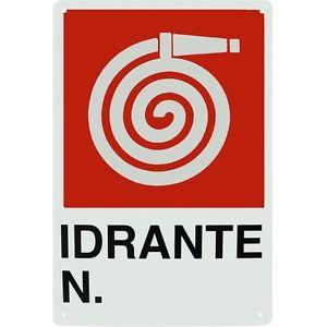 cartello idrante numero