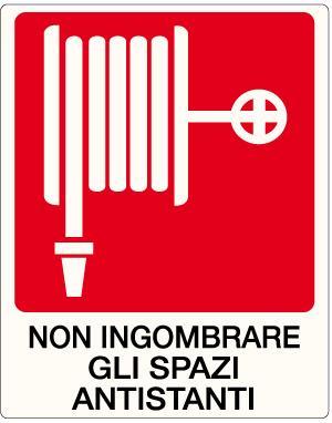 cartello naspo non ingombrare spazi