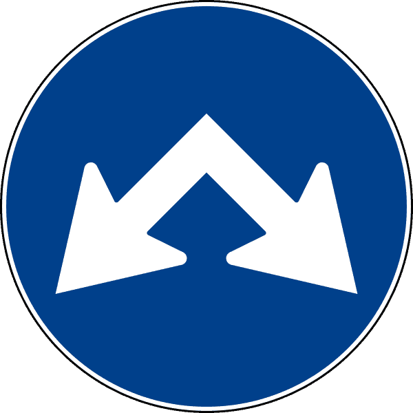 cartello passaggi consentiti