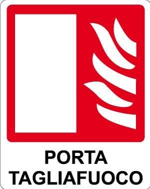 cartello porta tagliafuoco