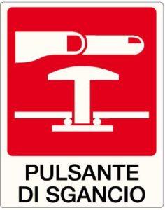 cartello pulsante di sgancio