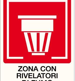 cartello zona rivelatori di fumo