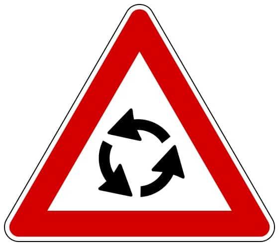 cartello rotatoria