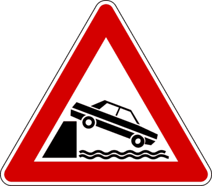 cartello sbocco su molo