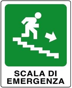 cartello scala di emergenza