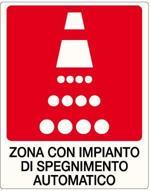 cartello zona impianto spegnimento automatico