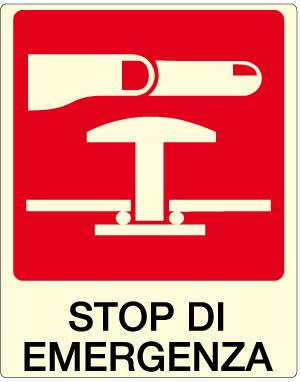 cartello stop di emergenza