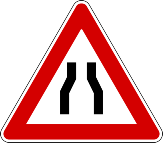 cartello strettoia simmetrica
