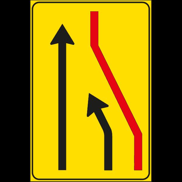 cartello segnale corsia chiusa