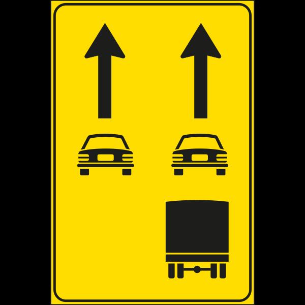 cartello uso corsie disponibili