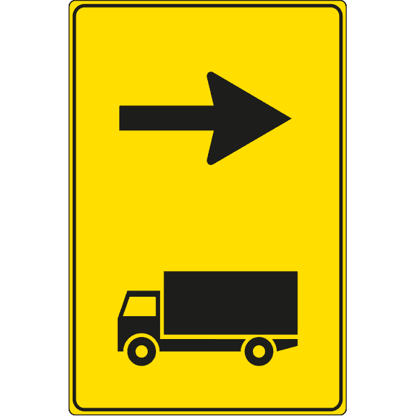 cartello direzione consigliata autocarri