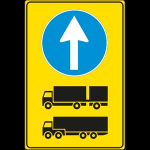 cartello direzione obbligatoria autotreni e autoarticolati