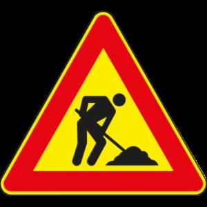 cartello lavori