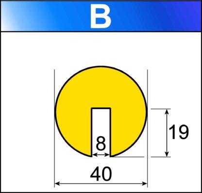 profilo flessibile di sicurezza B