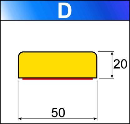 profilo flessibile di sicurezza D