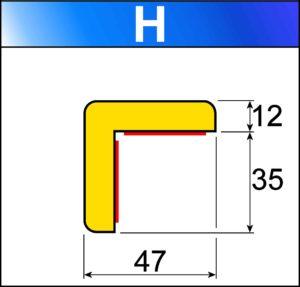 profilo flessibile di sicurezza H
