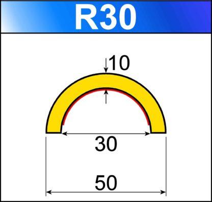 profilo flessibile di sicurezza R30