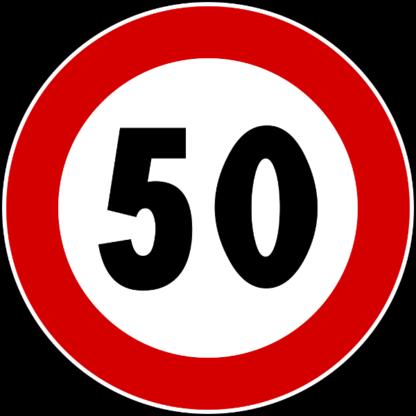 cartello limite massimo di velocità