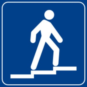 cartello indicazione sovrapassaggio pedonale