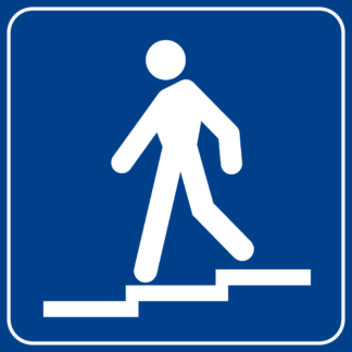 cartello indicazione sottopassaggio pedonale