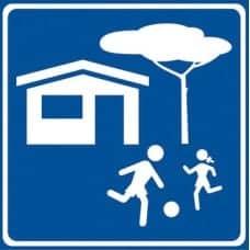 cartello indicazione zona residenziale