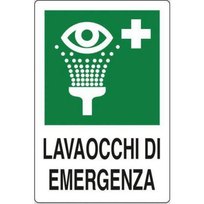 cartello lavaocchi di emergenza