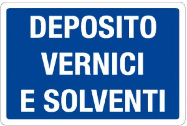 cartello deposito vernici e solventi