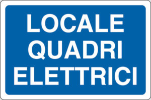 cartello locale quadri elettrici